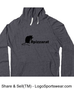 Long Sleeve Heather Pullover Tee with Hood Design Zoom
